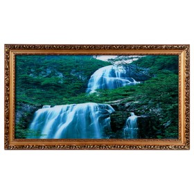 Световая картина 'Перекаты' со звуком пения птиц и водопада Ош