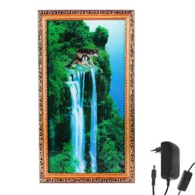 Световая картина 'На краю скалы' со звуком пения птиц и водопада Ош