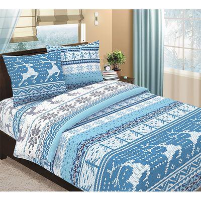 """Постельное бельё 1,5 сп Традиция """"Аляска голубая"""", 147х215, 150х215, 70х70 см - 2 шт., бязь 125 г/м2"""