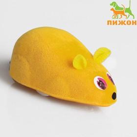 Мышь заводная, 7 см, жёлтая