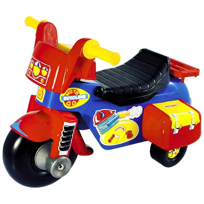 "Толокар велосипед Мото ""GO!"" с гудком-пищалкой"