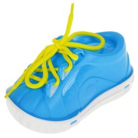 Дидактическая игрушка «Ботинок-шнуровка», в сетке, цвета МИКС