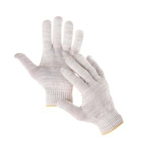 Перчатки, х/б, вязка 10 класс, 5 нитей, без покрытия, белые