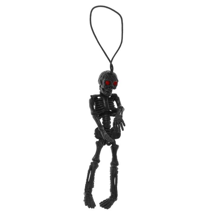 ПриколСкелет, резиновый, цвет чёрный