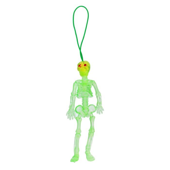 Прикол Скелет, резиновый, светоотрожающий