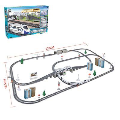 Железная дорога «Экспресс», работает от батареек, длина пути 9,14 м., свет - Фото 1