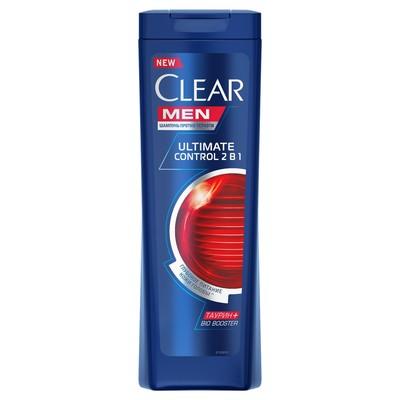 Шампунь и бальзам для волос Clear Men 2 в 1 «Ultimate Control», 400 мл - Фото 1