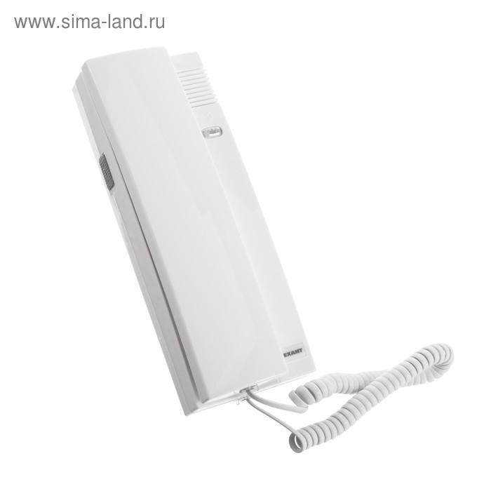 Аудиотрубка для домофона Rexant 45-0348, индикатор, регулировка громкости, белая