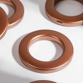 Люверсы для штор, d = 3,1/5,5 см, 10 шт, цвет коричневый Ош