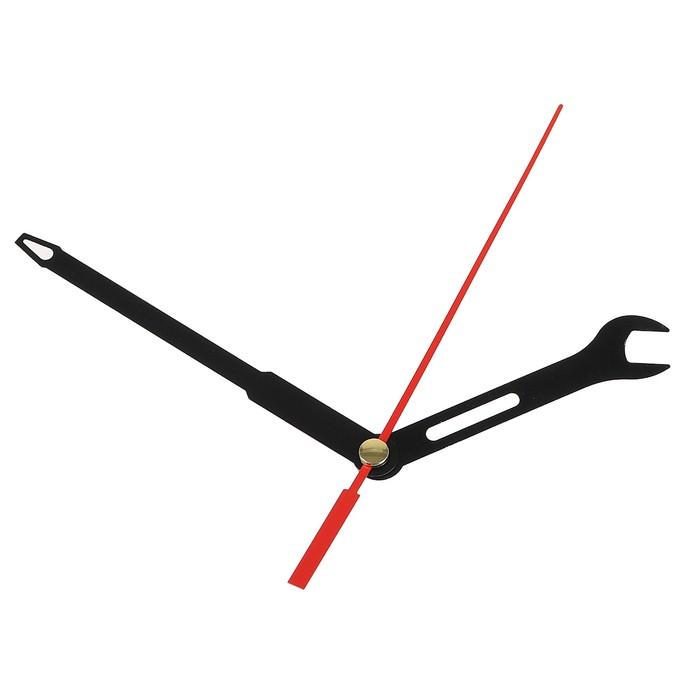 Комплект из 3-х стрелок для часов черные ключ отвертка 6590 691 фасовка 100 наборов