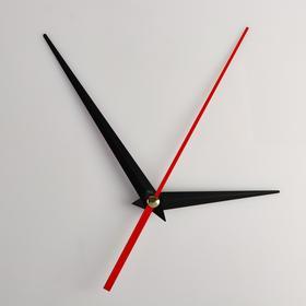Комплект из 3-х стрелок для часов черные 73/110 (1039) (фасовка 100 наборов) Ош