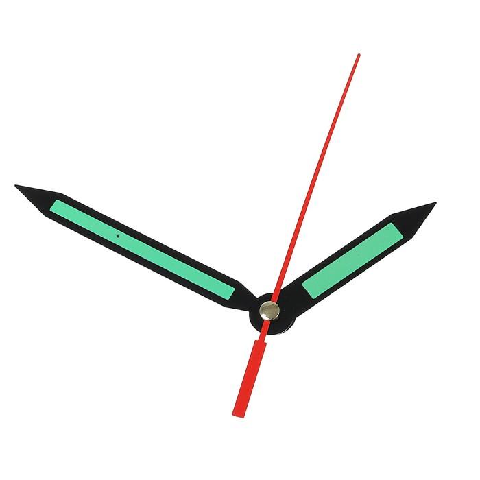Комплект из 3-х стрелок для часов, светятся в темноте 59902013Y фасовка 100 набор
