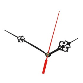 Комплект из 3-х стрелок для часов черные резные 64/100 (2019) (фасовка 100 набор) Ош