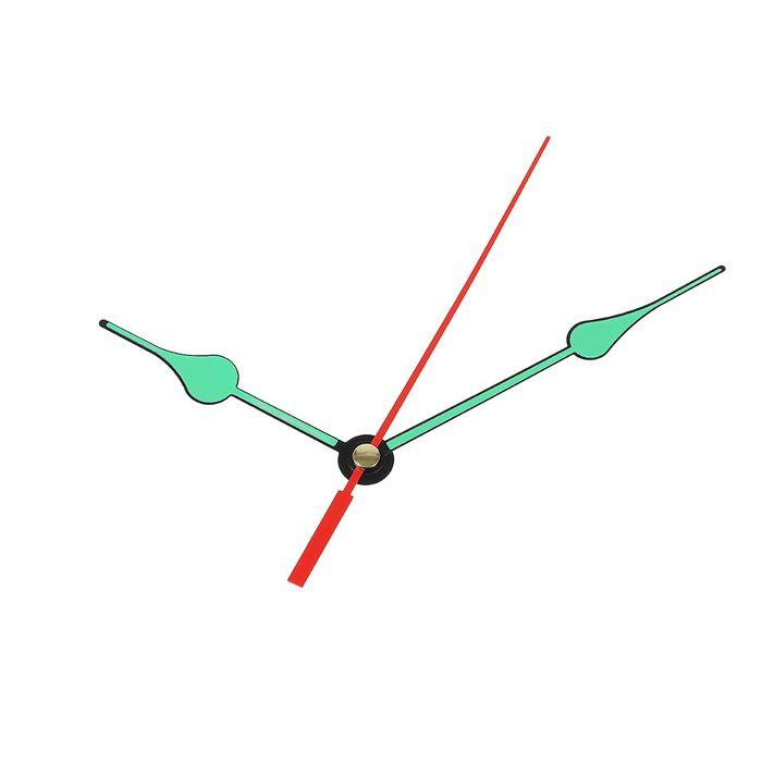 Комплект стрелок для часов, черные, светятся в темноте 2054Y