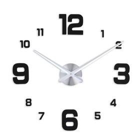 Часы-наклейка DIY 'Эндерлин', чёрные, 120 см (+ механизм) Ош