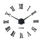 """Часы-наклейка DIY """"Лорье"""", чёрные, 120 см (+ механизм)"""
