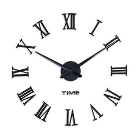 Часы-наклейка DIY 'Лорье', чёрные, 120 см (+ механизм) Ош