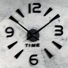 """Часы-наклейка DIY """"Кавалье"""", чёрные,(+ механизм) 120 см"""