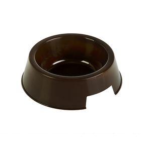 Миска 'Для любимца', 0,4 л, коричневая Ош