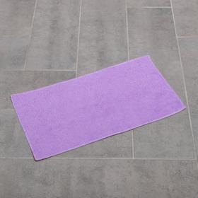 Насадка для плоской швабры с зажимом-бабочкой Доляна, 40×21 см, микрофибра, цвет сиреневый