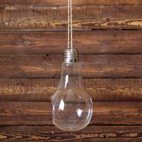 Флорариум 22*11 см лампочка, с верёвкой Ош