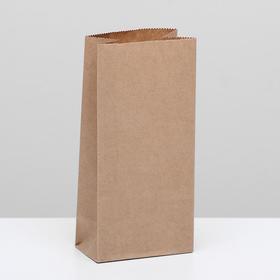 Пакет крафт бумажный фасовочный, прямоугольное дно 8 х 5 х 17 см