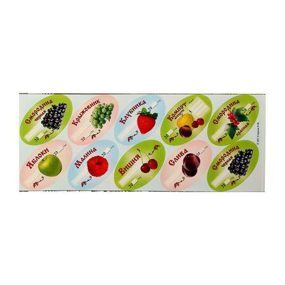 Набор цветных этикеток для домашних заготовок из ягод и фруктов, 6 х 3,5 см, 30 шт - Фото 1