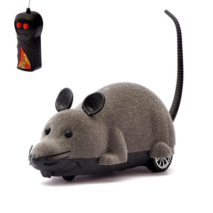 Животное радиоуправляемое Мышь, работает от батареек, МИКС