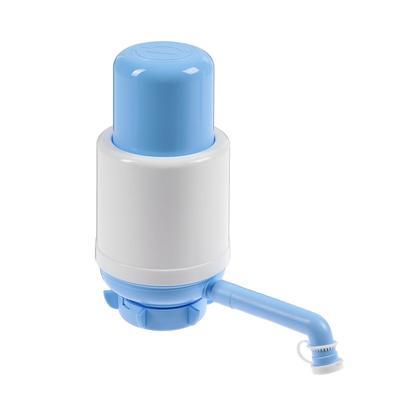 Помпа для воды LuazON Norma, механическая, большая, под бутыль от 11 до 19 л, голубая