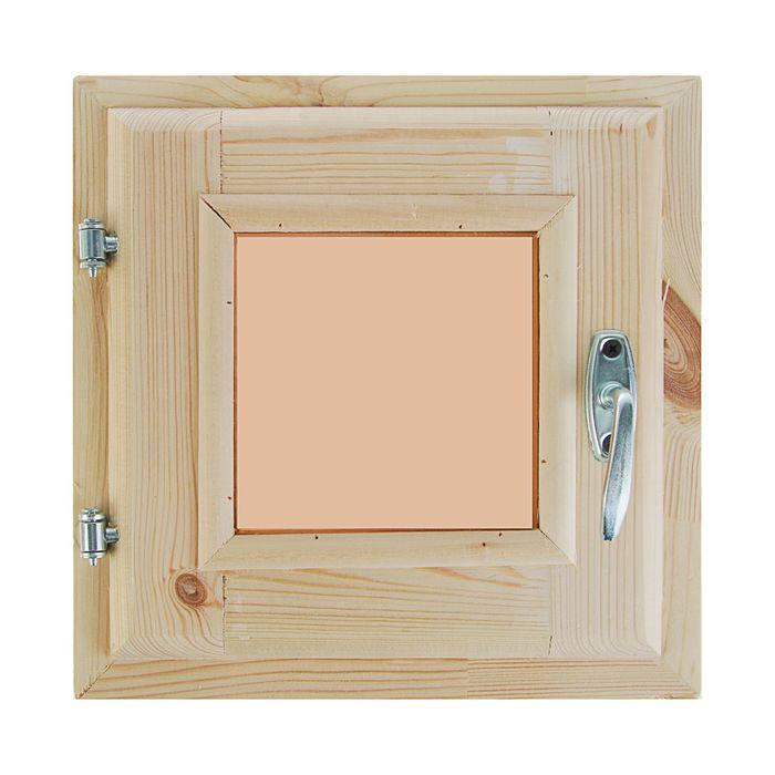 Окно, 30×30см, двойное стекло, тонированное, из хвои