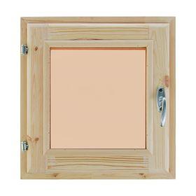 Окно, 40×40см, двойное стекло, тонированное, из хвои Ош