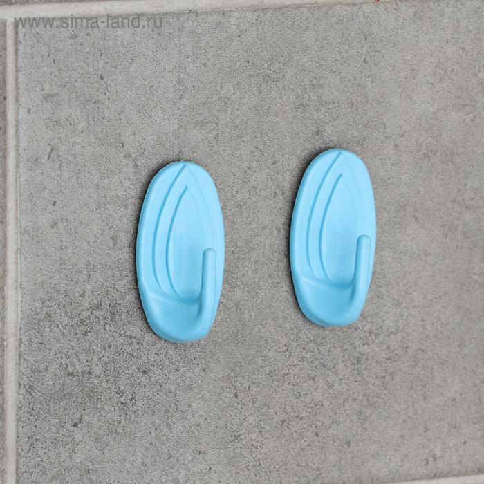 Набор крючков самоклеящихся, 2 шт, цвет МИКС