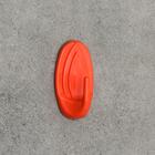 Крючок настенный, овальный, самоклеящийся, цвет МИКС