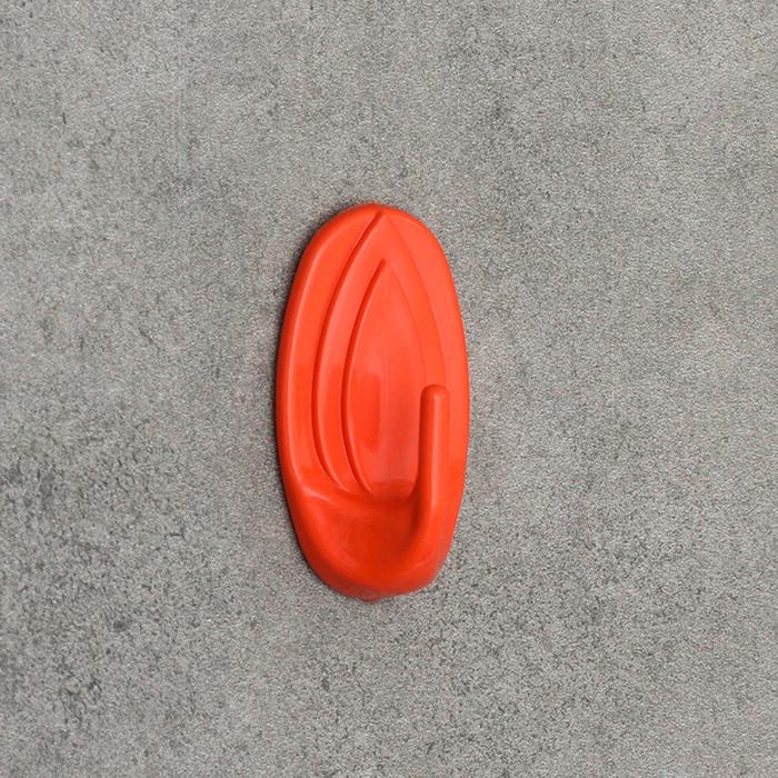 Крючок самоклеящийся Овал, цвет МИКС