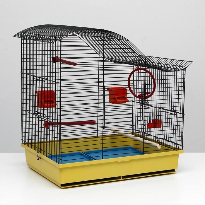 Клетка для попугая Фиона, 3 яруса, 48 х 38 х 53 см, микс цветов