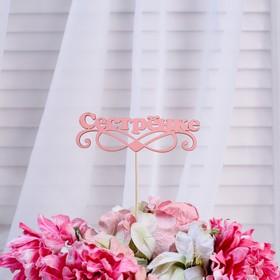 Топпер «Сестрёнке», розовый, 12,5×4 см