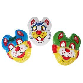 Карнавальная маска 'Котик', цвета МИКС Ош