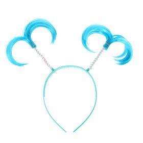 Карнавальный ободок 'Хвостики', цвет голубой Ош