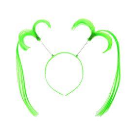 Карнавальный ободок 'Хвостики' длинные, цвет зеленый Ош
