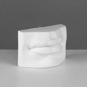 Гипсовая фигура, губы Давида «Мастерская Экорше», 17 х 8 х 12 см Ош