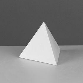 Геометрическая фигура, пирамида правильная «Мастерская Экорше», 15 см (гипсовая)