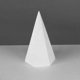 Геометрическая фигура, пирамида 6-гранная «Мастерская Экорше», 20 см (гипсовая)