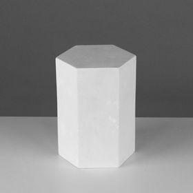 Геометрическая фигура, призма 6-гранная «Мастерская Экорше», 20 см (гипсовая)