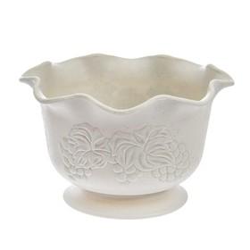Вазон Viola, 2,7 л, d=22,3 см, цвет белая глина