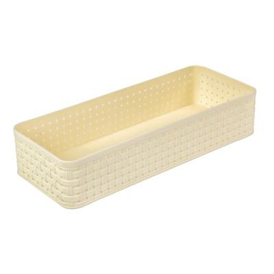 Органайзер для столовых приборов, 24×9,5×5 см, цвет ванильный - Фото 1