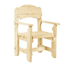 Кресло к набору 'Разбойник' фигурный, натуральная сосна Ош