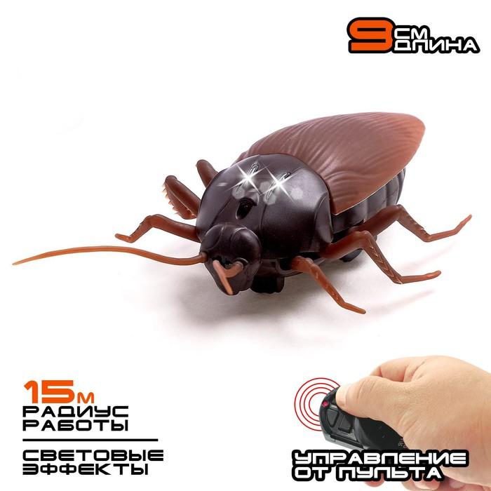 Жук радиоуправляемый Таракан, работает от батареек, свет