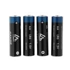 Батарейка алкалиновая (щелочная) LuazON, AA, LR6, спайка, 4 шт - Фото 2