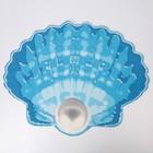 Коврик для ванной комнаты 65×47 см «Ракушка», цвет МИКС