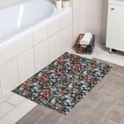 Коврик для ванной комнаты 65×100 см, дизайн МИКС